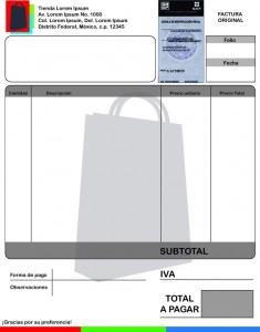 Ejemplo de factura en Illustrator