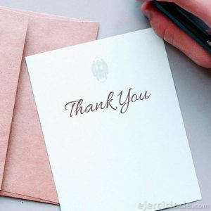 Carta para decir gracias