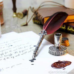 Carta personal escrita mano