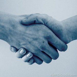 Saludo de manos