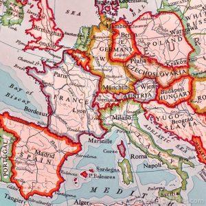 Mapa de europa en color
